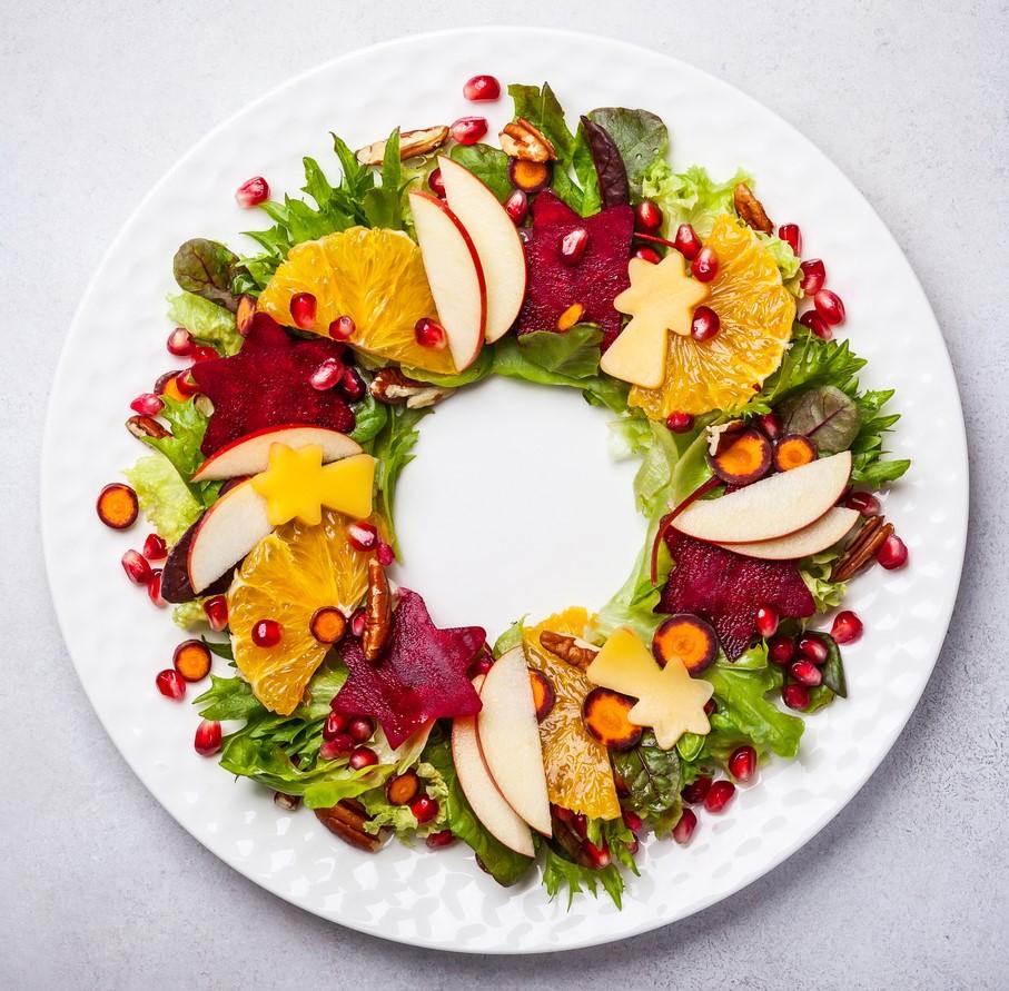 Salada natalina pode dar o tom na mesa de jantar